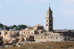 Basilica of Sassi di Matera Royalty Free Stock Photography