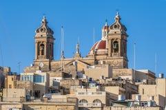 Basilica of Senglea in Malta. Stock Photo