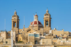 Basilica of Senglea in Malta. Stock Image