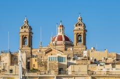 Basilica of Senglea in Malta. Stock Image