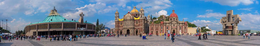 Basilica square of Our Lady of Guadalupe in Mexico city Stock Photography