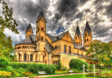 Basilica of St. Castor in Coblence Royalty Free Stock Photography