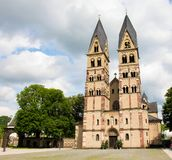 Basilica of St. Castor in Koblenz, Germany royalty free stock photography
