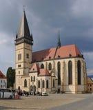 Basilica of st.Egidius in Bardejov Stock Photo