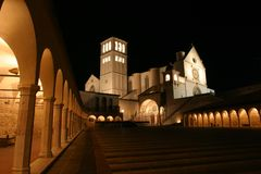 Basilica of St. Francis. Of Assisi, Italy Royalty Free Stock Photos