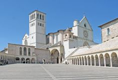 Basilica, St Francis of Assisi stock photos