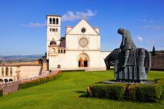 Basilica of St Francis, Assisi. Front view of the famous Basilica of St Francis, Assisi, Italy Royalty Free Stock Photography