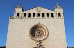 Basilica of St. Francis of Assisi in Palma de Mallorca. Facade of Basilica of St. Francis of Assisi in Palma de Mallorca, Spain Stock Images