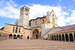 Basilica of St Francis, Assisi. View of the famous Basilica of St Francis, Assisi, Italy Royalty Free Stock Photography
