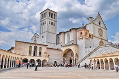 Assisi Italy - Basilica of St. Francis Royalty Free Stock Images