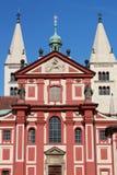Basilica of St. George Prague. On the blue sky Stock Image