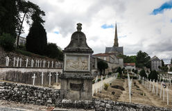 The Basilica of St. Louis de Montfort  cemetery at Saint-Laurent Royalty Free Stock Image