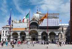 Basilica St Mark cathedral at Piazza San Marco, Venice, Italy Royalty Free Stock Photos