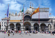 Basilica of St Mark in Piazza San Marco. Venice, Italy stock photos