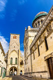 Basilica of St. Martin and Charlemagne tower in Tours Stock Image