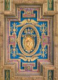Pope Gregory XIII coat of arms in the ceiling of the Basilica of Santa Maria in Ara Coeli, in Rome, Italy. The Basilica of St. Mary of the Altar of Heaven is a Royalty Free Stock Photography