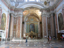 Basilica of St. Mary of the Angels and the Martyrs, Rome Stock Images
