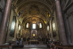 Basilica of St. Mary of the Angels and the Martyrs in Rome, Ital Stock Image