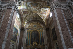 Basilica of St. Mary of the Angels and the Martyrs in Rome, Ital. Interior of basilica of St. Mary of the Angels and the Martyrs Santa Maria degli Angeli e dei Royalty Free Stock Photo