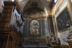 Basilica of St. Mary of the Angels and the Martyrs in Rome, Ital. Interior of basilica of St. Mary of the Angels and the Martyrs Santa Maria degli Angeli e dei Stock Images