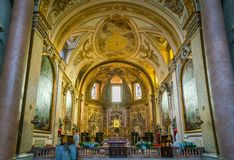 Basilica of St. Mary of the Angels and the Martyrs in Rome, Italy. The Basilica of St. Mary of the Angels and the Martyrs is a titular basilica church in Rome Royalty Free Stock Photos