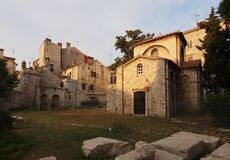 Basilica of St. Mary Formosa. Only one chapel from this 6th-century basilica complex survives Stock Photo