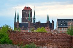Basilica of St. Mary's in Gdansk Stock Photography