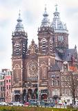 Basilica of St. Nicholas in Amsterdam Royalty Free Stock Photo