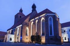 Basilica of St. Nicholas in Grudziadz. Grudziadz, Kuyavian-Pomeranian Voivodeship, Poland Stock Photo