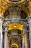 Basilica of St. Peter, church in Vatican, Rome. Basilica of St. Peter, is an Italian Renaissance church in Vatican City, the papal enclave within the city of Stock Images