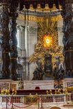 Basilica of St. Peter, church in Vatican, Rome. Basilica of St. Peter, is an Italian Renaissance church in Vatican City, the papal enclave within the city of Stock Image