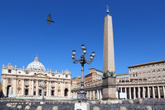 Basilica of St. Peter and obelisk Stock Photo