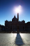 Basilica of St. Peter and obelisk Royalty Free Stock Photo