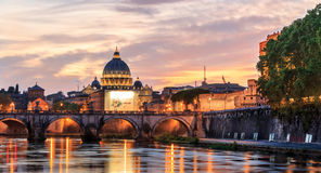 Basilica St.Peter's dome Vatican Stock Photo