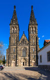 Basilica of St Peter and St Paul in Vysehrad fortress in Prague, Czech Republic Royalty Free Stock Photos