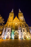 Basilica of St Peter and St Paul in Vysehrad, Prague, Czech Republic Stock Image