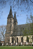 Basilica of St Peter and St Paul in Vysehrad, Prague, Czech Republic Royalty Free Stock Photography