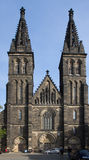 Basilica of St Peter and St Paul in Vysehrad, Prague. Stock Photos