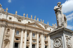 Basilica the St. Peter in vatican. Italy Royalty Free Stock Images