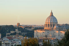 The Basilica of St. Peter view from the Gianicolo - Rome Royalty Free Stock Images