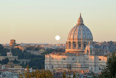 The Basilica of St. Peter view from the Gianicolo - Rome Royalty Free Stock Photography