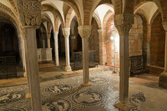 Basilica of St. Savino. Piacenza. Emilia-Romagna. Italy. Stock Image