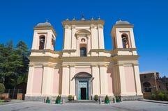 Basilica of St. Sepolcro. Acquapendente. Lazio. Royalty Free Stock Photo