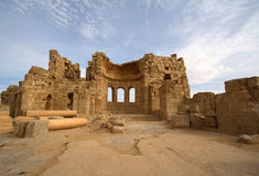 Basilica of St. Sergius at Rasafa Syria Royalty Free Stock Image