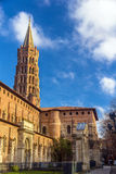 Basilica of St. Sernin in Toulouse Stock Image