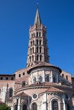 Basilica of St. Sernin in Toulouse in France Stock Images
