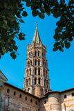 The Basilica of St. Sernin in Toulouse, France. Stock Photos