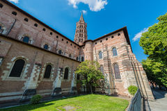 The Basilica of St. Sernin in Toulouse, France. Royalty Free Stock Photo