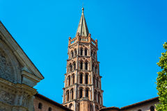 The Basilica of St. Sernin in Toulouse, France. Stock Photo