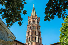 The Basilica of St. Sernin in Toulouse, France. The Basilica of . Sernin, built in Romanesque style between 1080 and 1120 in Toulouse, Haute-Garonne, Midi Royalty Free Stock Photos